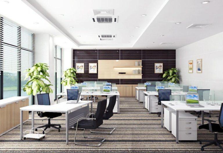 văn phòng đẹp và sạch sẽ