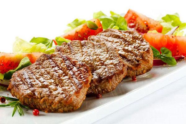 món ăn chế biến từ thịt bò