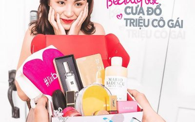 Box sản phẩm của Lixibox, đặc biệt được chăm chút từ khâu đóng gói đến từng món mỹ phẩm trong đó