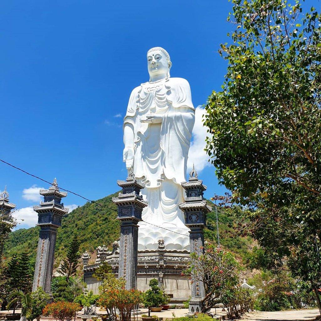 Chùa Tòng Lâm Lô Sơn nằm tại núi Đá Lố nên còn có tên gọi khác là chùa Đá Lố. Chùa là một trong những ngôi chùa Nha Trang được du khách nước ngoài ghé thăm nhiều nhất. Bức tượng khổng lồ được xem là tượng Phật A Di Đà lớn nhất Việt Nam với chiều cao lên tới 44m, phần chân đế đài sẽ có đường kính là 24m.